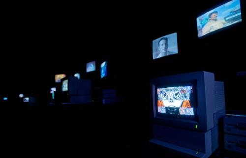 Installation view of 'Zapping Zone' by Chris Marker (Proposals for an imaginary television, 1990-1994. Credits: Centre Pompidou.