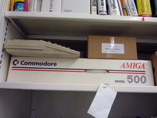 Un Commodore Amiga 500 dans la collection de la HKB. Photo: PACKED vzw.