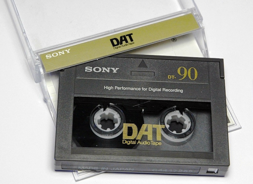 A DAT tape. Picture: Wikimedia Commons.