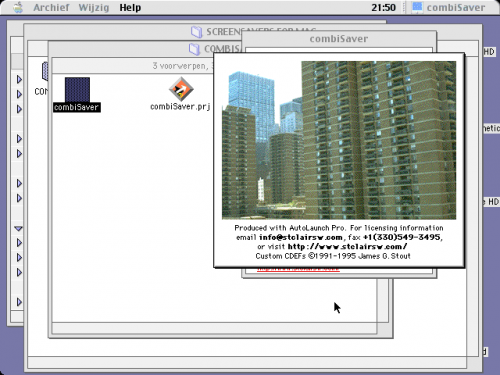 Screenshot of the screensaver application's interface.