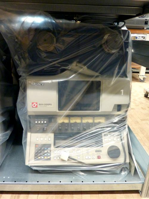 "A 1"" SONY video recorder stored in a plastic bag in the HKB / AktiveArchive collection. Photo : PACKED vzw."
